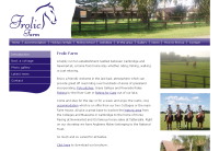 Frolic Farm's website